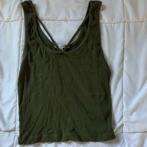 Army green tank top